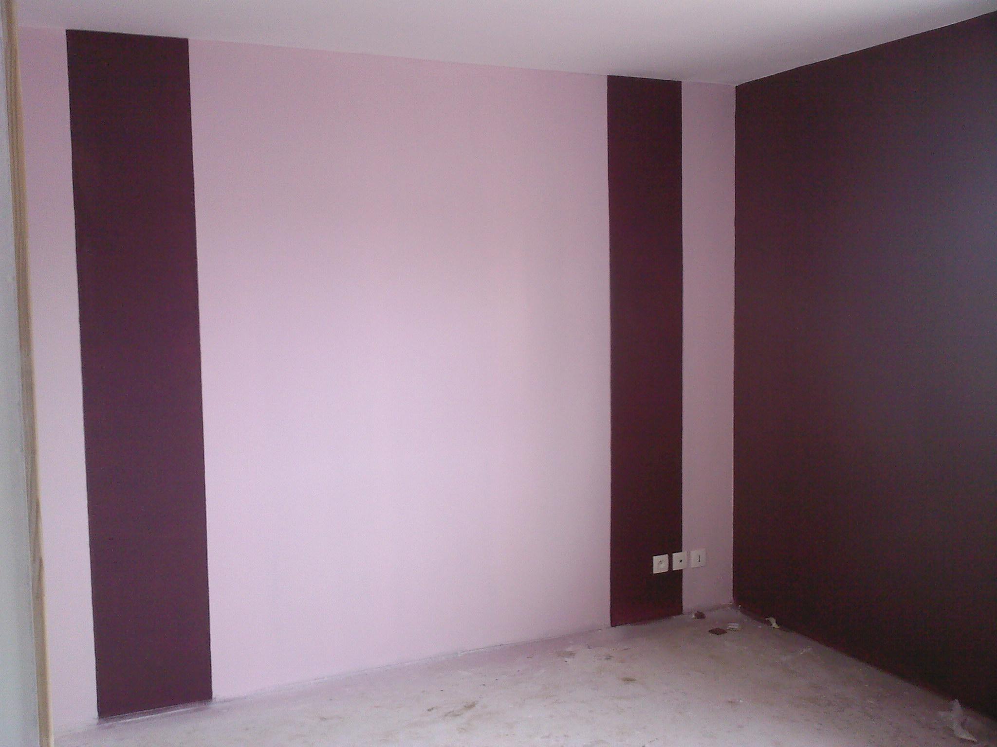 Peinture murale chambre et sjour par Mr Bricolage